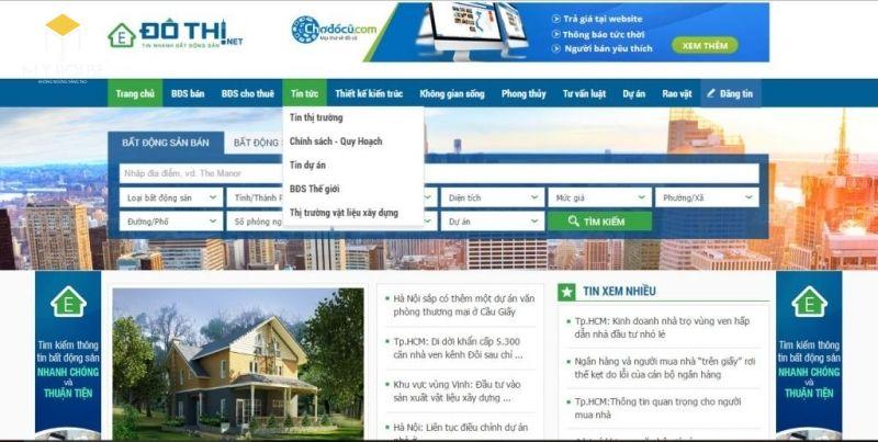 Dothi.net là website mua bán nhà đất uy tín hàng đầu