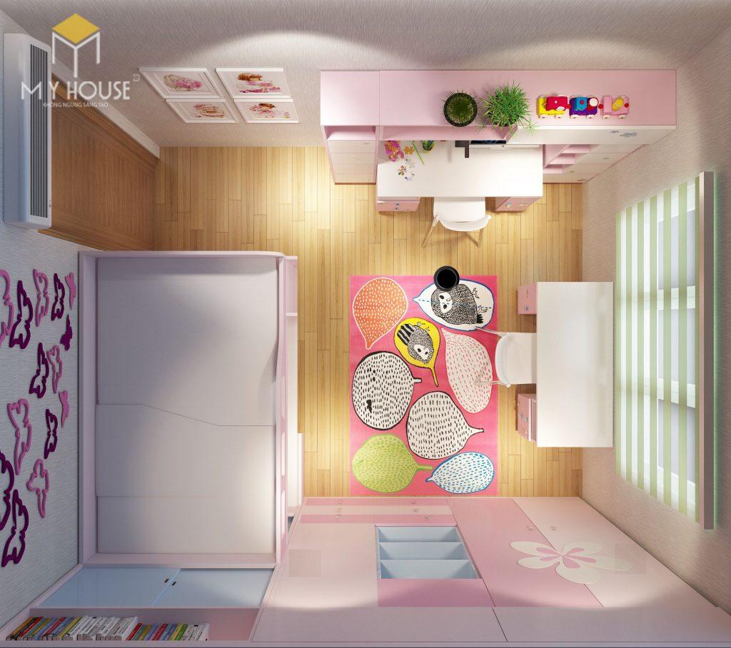 Nội thất phòng ngủ con gái- View 3