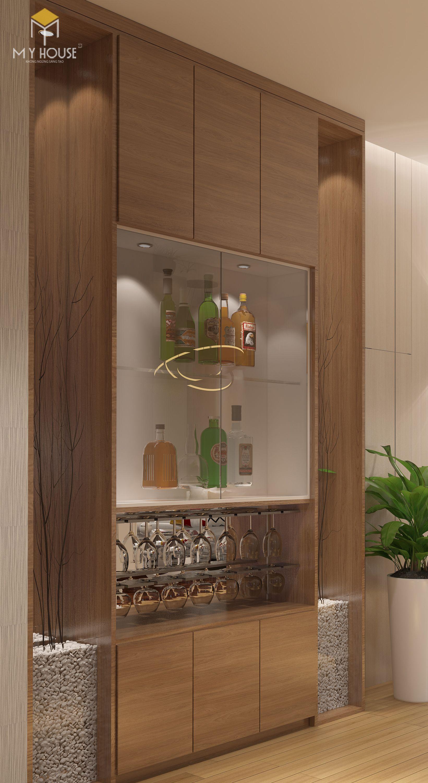 Tủ rượu bằng gỗ tự nhiên 100%