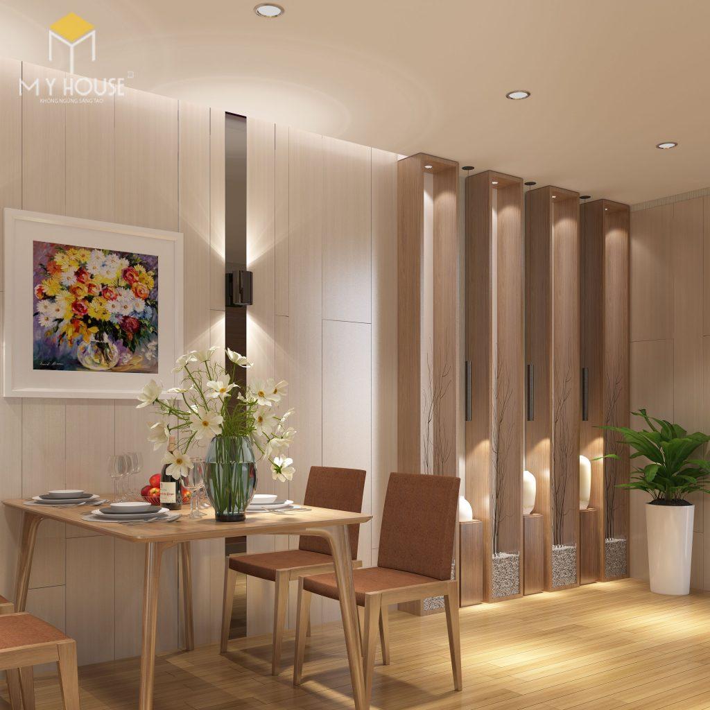 Không gian phòng ăn nhỏ gọn phù hợp với gia đình trẻ - View 2