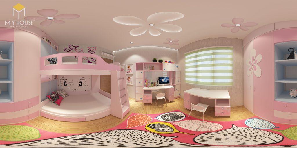 Nội thất phòng ngủ con gái- View 2