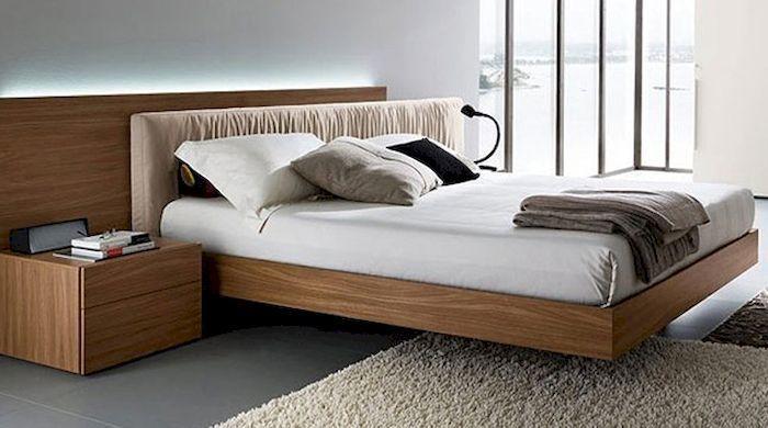 Bộ nội thất phòng ngủ bằng gỗ lát chun