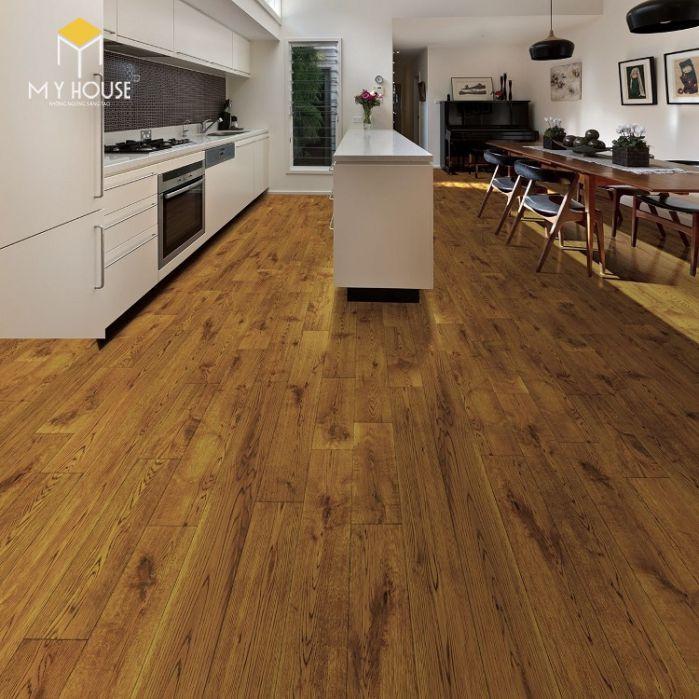Sàn nhà làm bằng gỗ sao