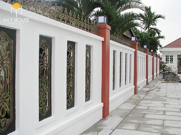 Mẫu hàng rào biệt thự đẹp - Hình ảnh 5
