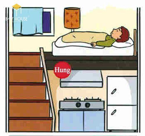 Kiêng kỵ khi đặt giường ngủ nằm phía trên/bên dưới bếp nấu/nhà tắm/nhà vệ sinh
