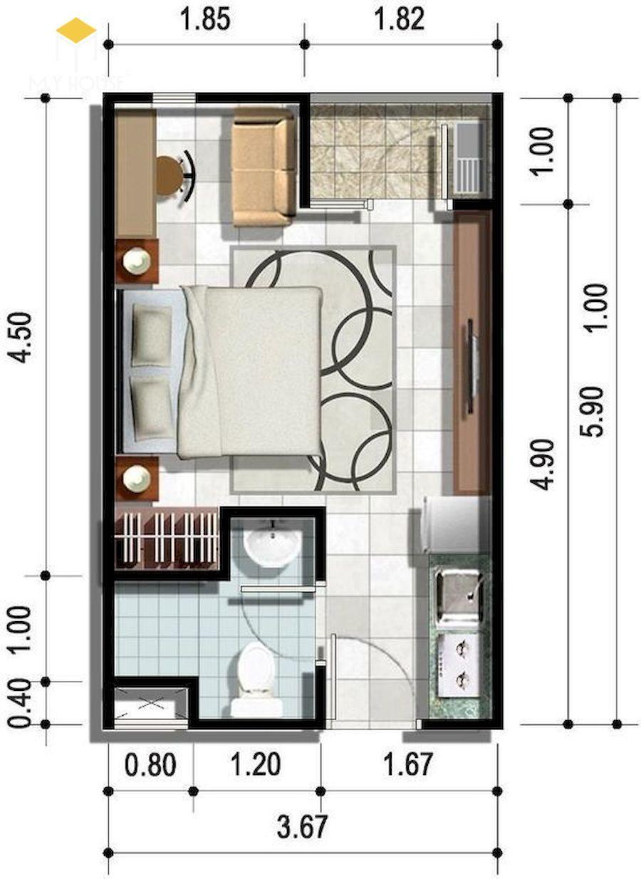 Mặt bằng bố trí nội thất khách sạn - Mẫu 3