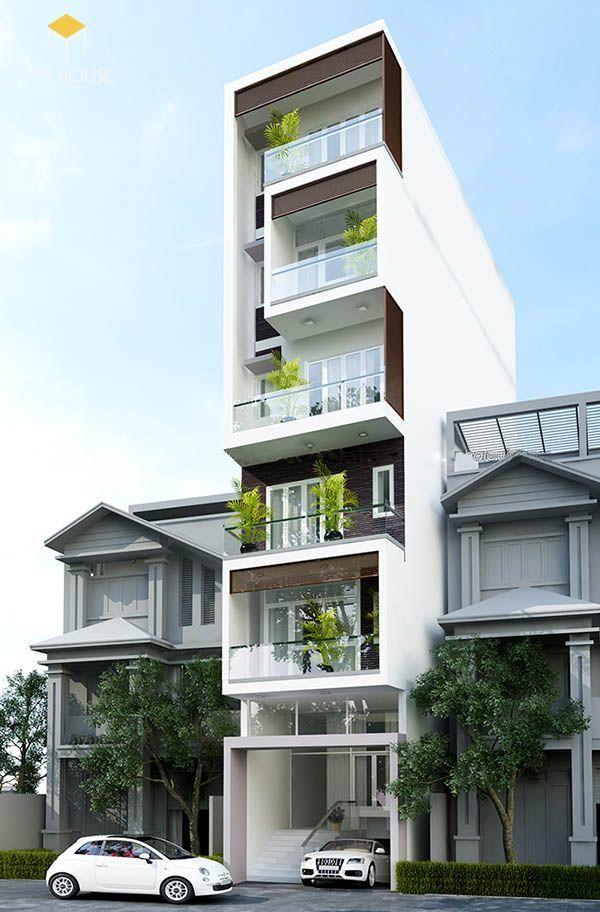 Nhà có tầng hẩm nổi hiện đại đẹp - Mẫu 12