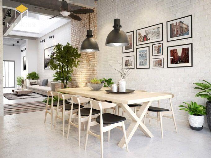 Bàn ăn đơn giản tinh tế với 8 ghế ngồi hiện đại - View 1