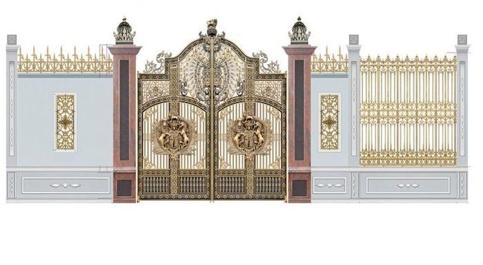 Hàng rào bê tông kết hợp với kim loại - View 3