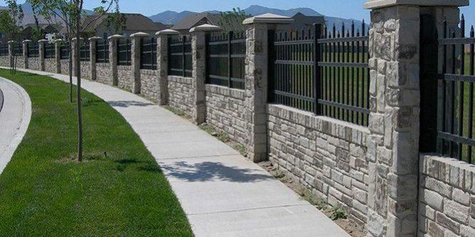 Kết quả hình ảnh cho tường rào gỗ đá