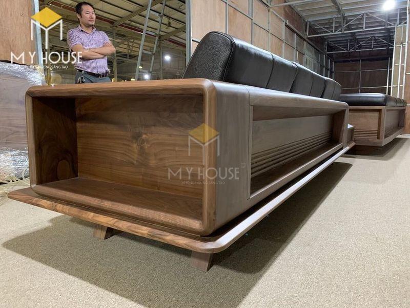 Sofa gỗ óc chó - Hình chụp tại xưởng 1