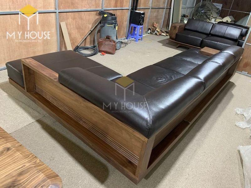 Sofa gỗ óc chó - Hình chụp tại xưởng 2