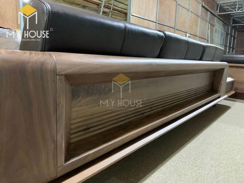 Sofa gỗ óc chó - Hình chụp tại xưởng 3