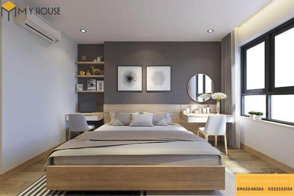 Phòng ngủ gỗ công nghiệp đẹp - Hình ảnh 1