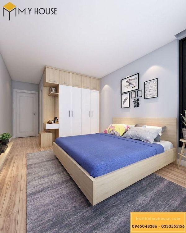 Phòng ngủ gỗ công nghiệp đẹp - Hình ảnh 4