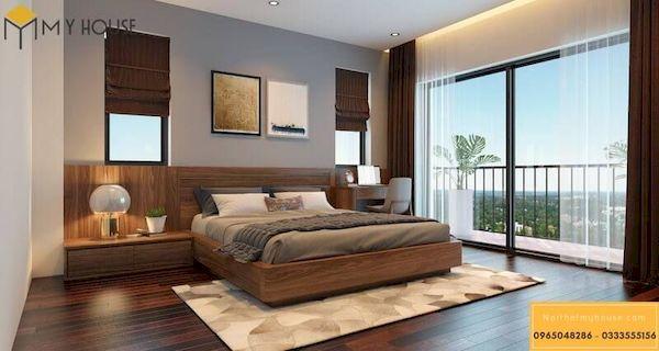Phòng ngủ gỗ công nghiệp đẹp - Hình ảnh 6