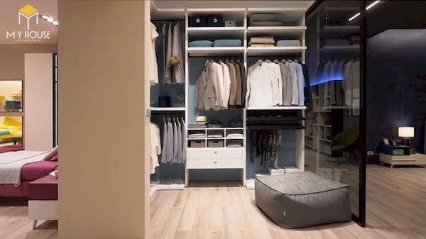 Phòng thay đồ hiện đại kết hợp phòng ngủ - Hình ảnh 3