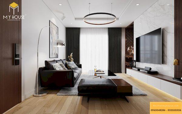 Công trình thi công nội thất chung cư đã hoàn thiện - Mẫu 2