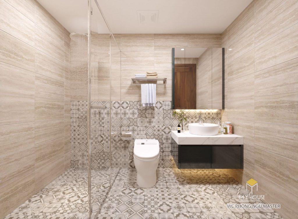 Phòng tắm thiết kế đơn giản nhỏ gọn