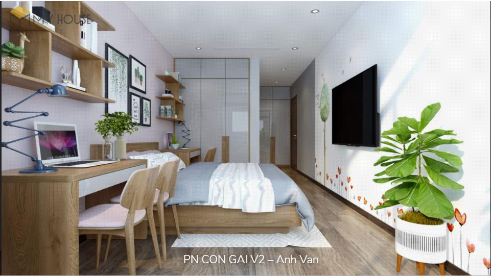 Nội thất phòng ngủ con gái - View 1