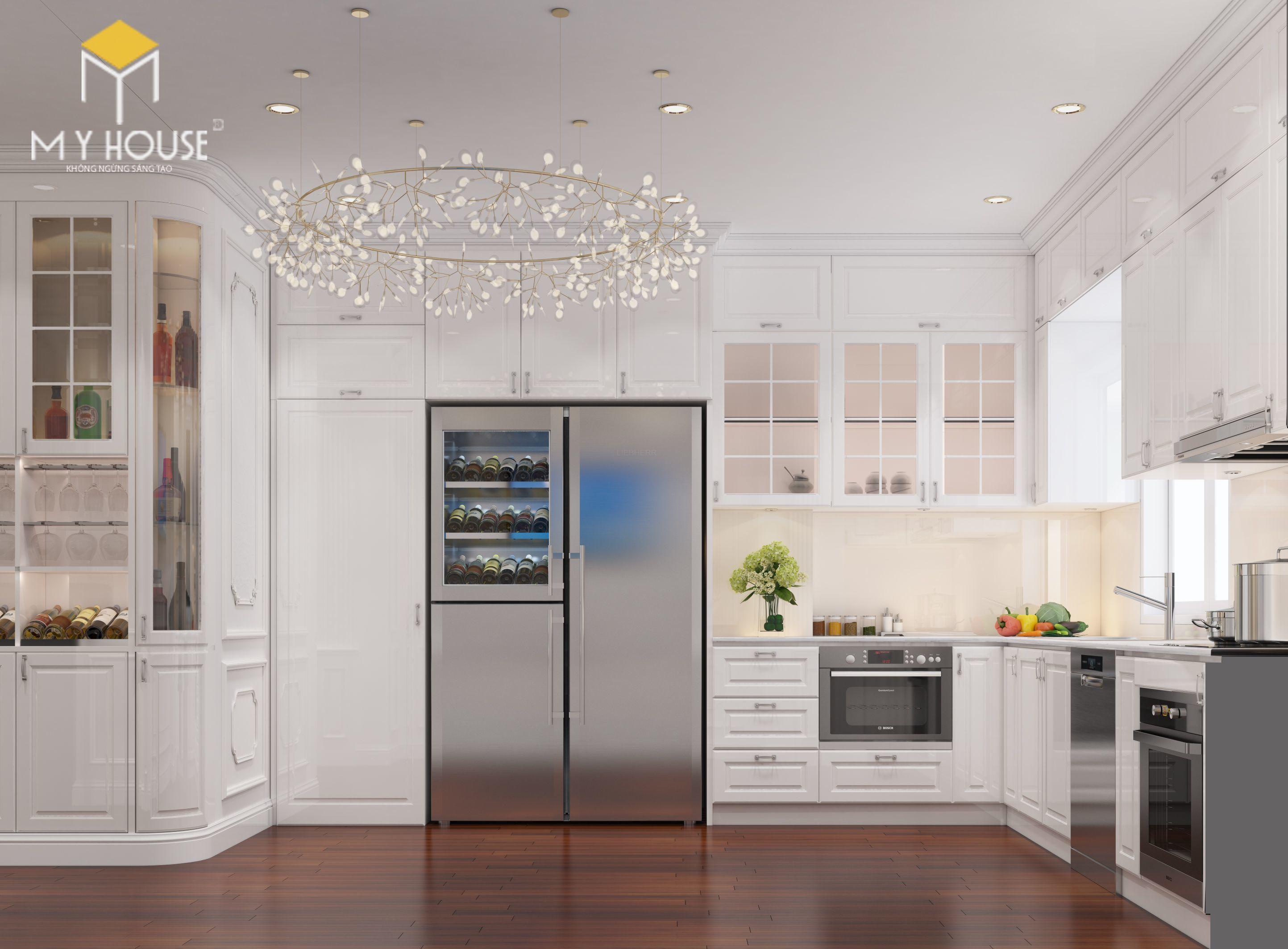 Nội thất phòng bếp +ăn cao cấp phong cách châu Âu-view 3