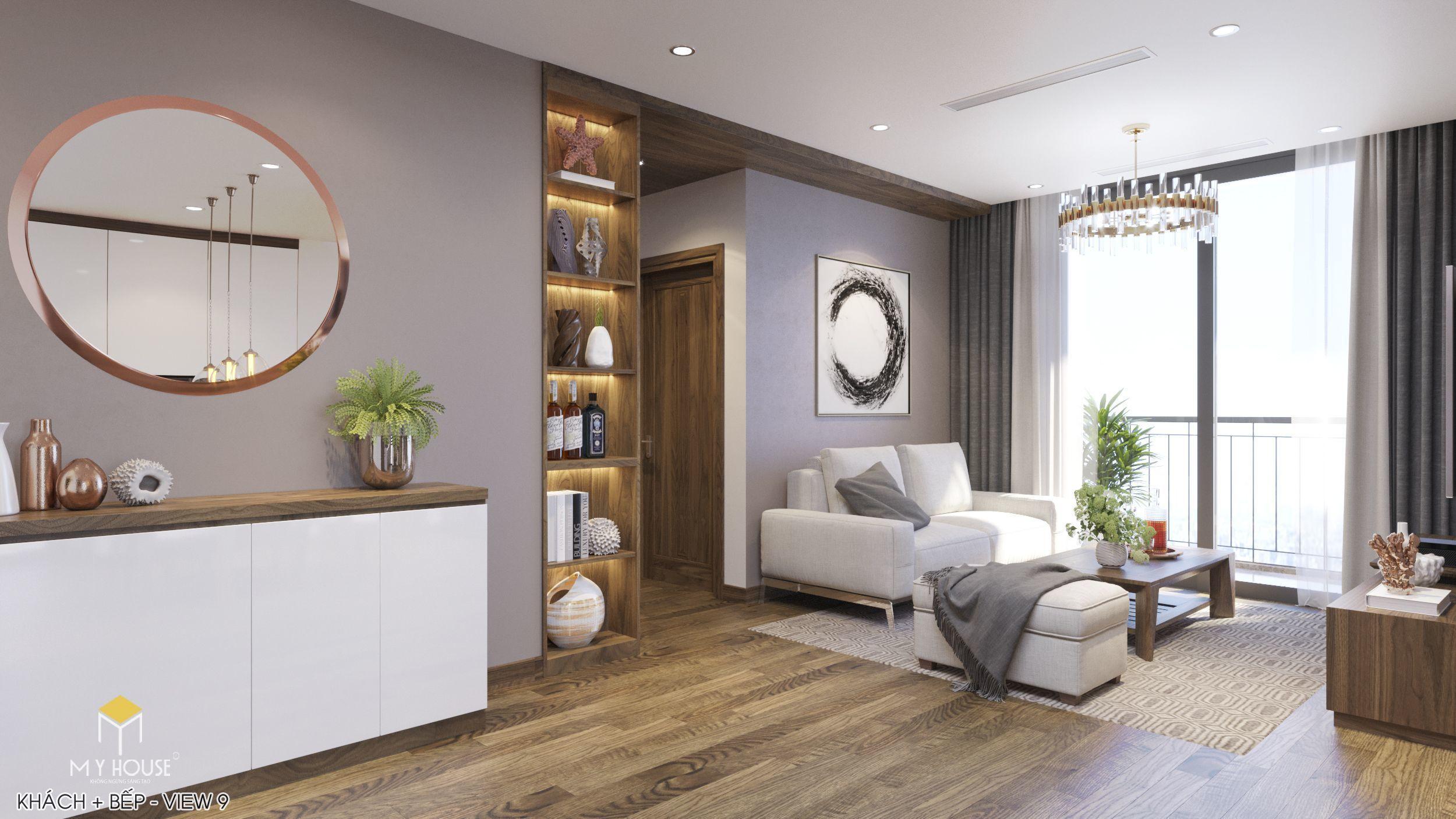 Nội thất phòng khách cao cấp phong cách hiện đại-view 2