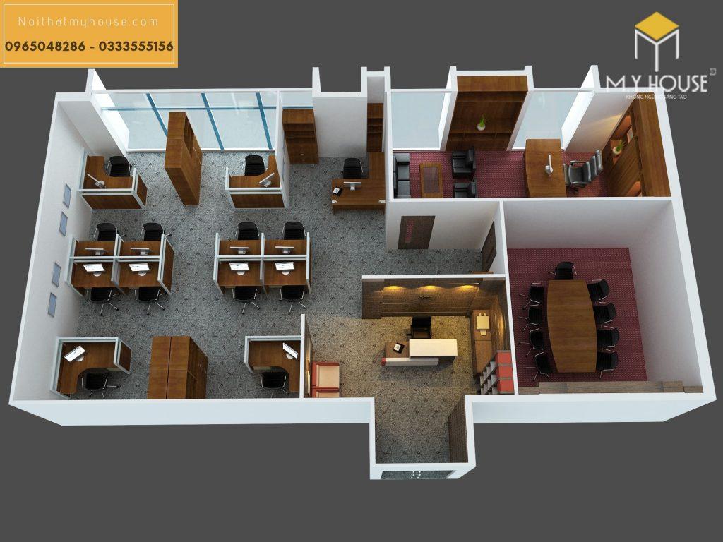 Đặc điểm khi thiết kế nội thất văn phòng chung cư