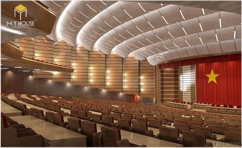Không gian cho khán giả trong hội trường 300 chỗ ngồi