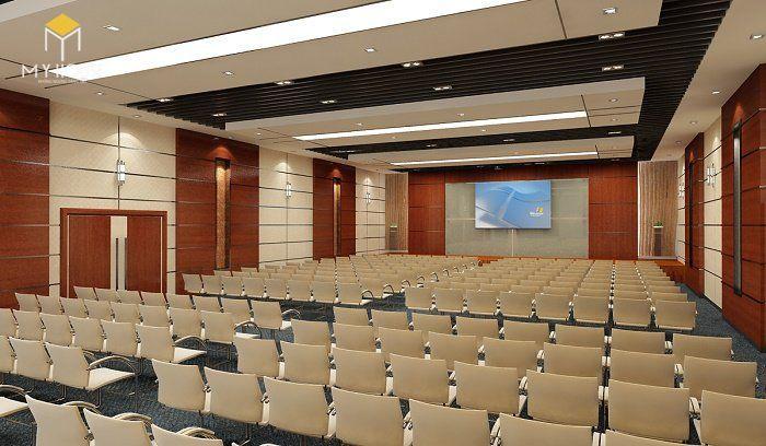 Hội trường thiết kế với nội thất hiện đại