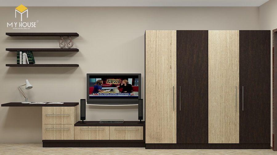 Lựa chọn tủ quần áo kết hợp kệ tivi tùy thuộc vào từng mục đích sử dụng