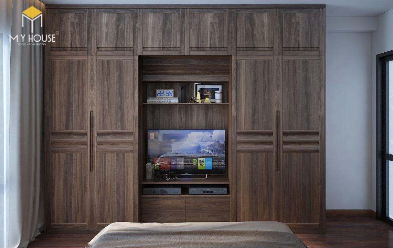 Tủ quần áo kết hợp kệ tivi 1