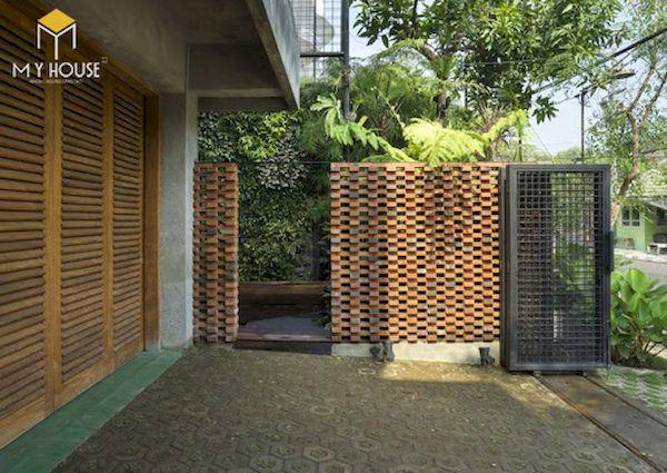 Mẫu hàng rào xây gạch đơn giản - Hình ảnh 2