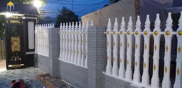 Mẫu hàng rào xây gạch đơn giản - Hình ảnh 14