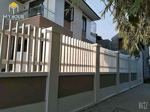 Mẫu hàng rào xây gạch đơn giản - Hình ảnh 15