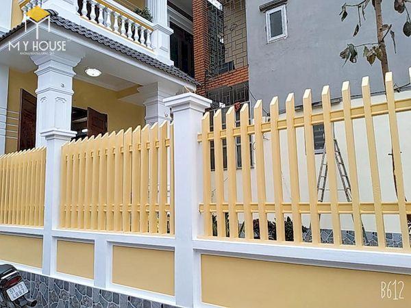 Mẫu hàng rào xây gạch đơn giản - Hình ảnh 16
