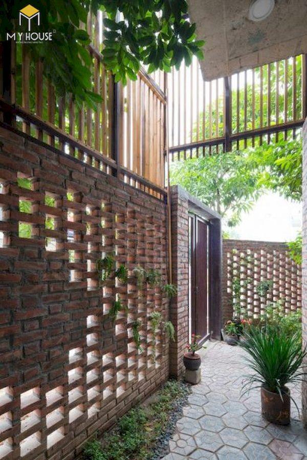 Mẫu hàng rào xây gạch đơn giản - Hình ảnh 4