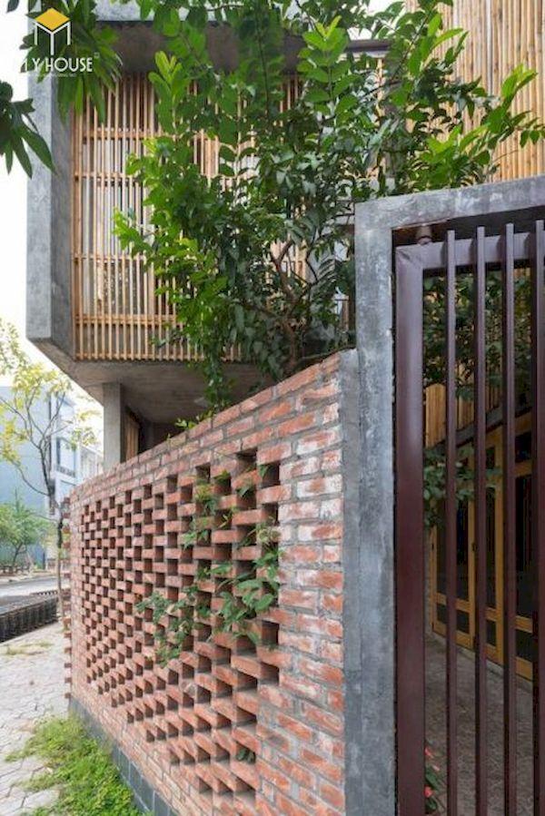 Mẫu hàng rào xây gạch đơn giản - Hình ảnh 5