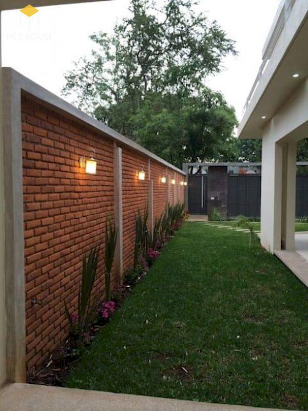 Mẫu hàng rào xây gạch đơn giản - Hình ảnh 6