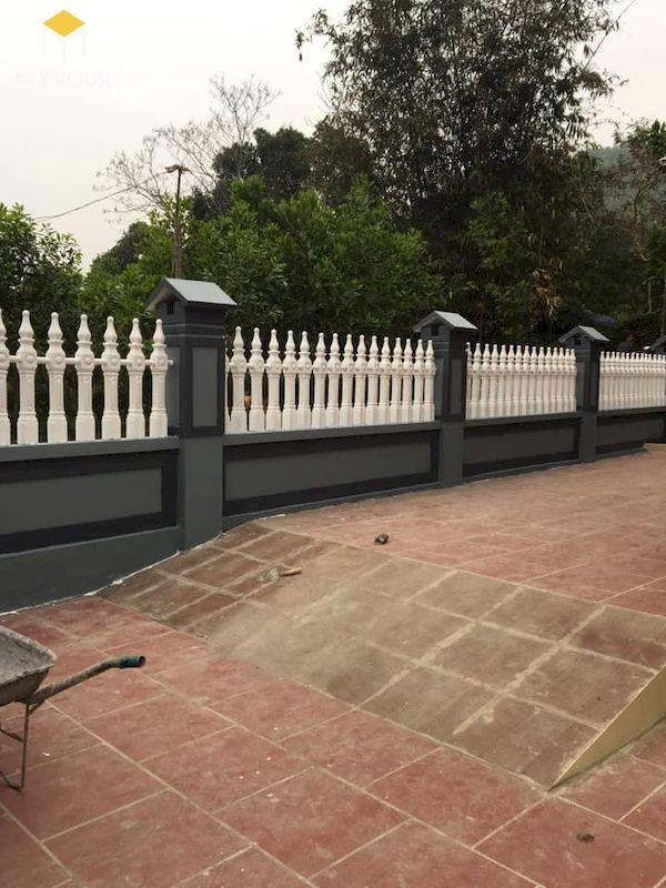 Mẫu hàng rào xây gạch đơn giản - Hình ảnh 9