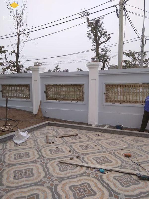 Mẫu hàng rào xây gạch đơn giản - Hình ảnh 10