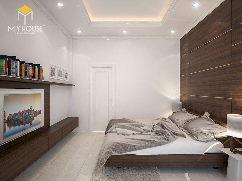 Phòng ngủ bằng gỗ óc chó