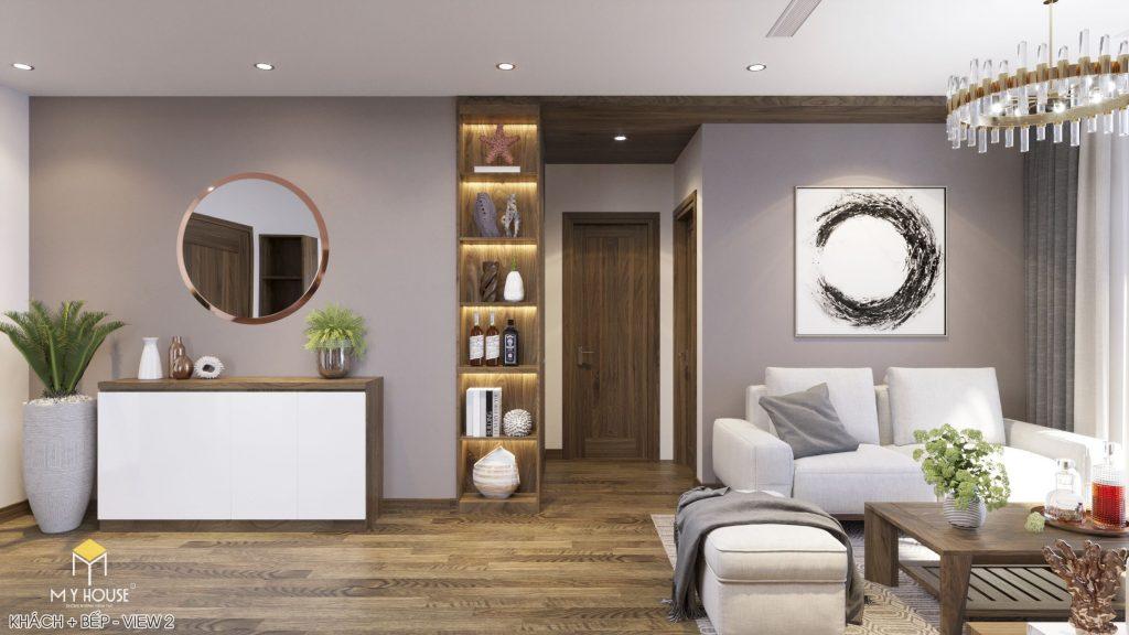 Nội thất phòng khách chung cư hiện đại - View 2