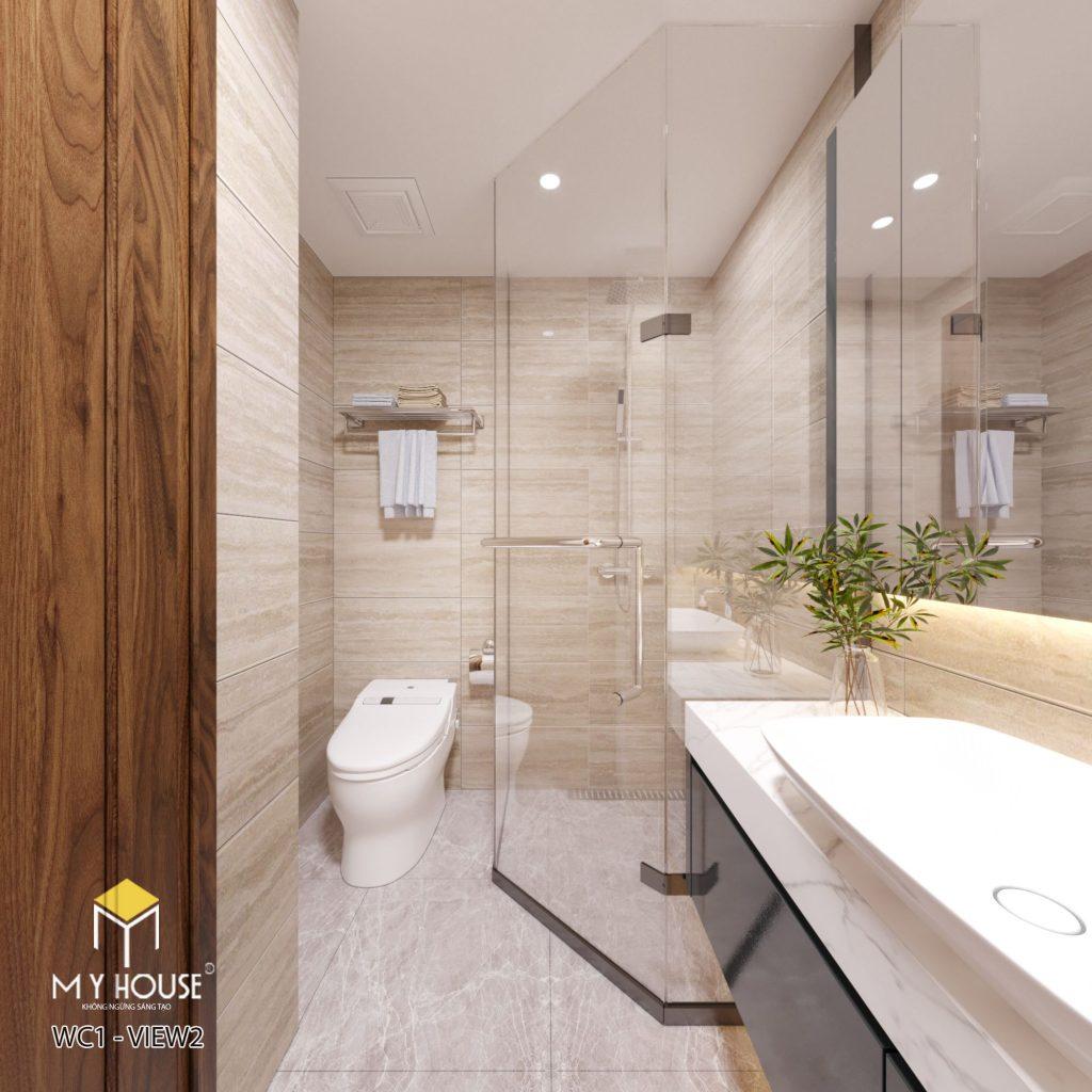 Không gian phòng tắm đơn giản, sang trọng - View 1