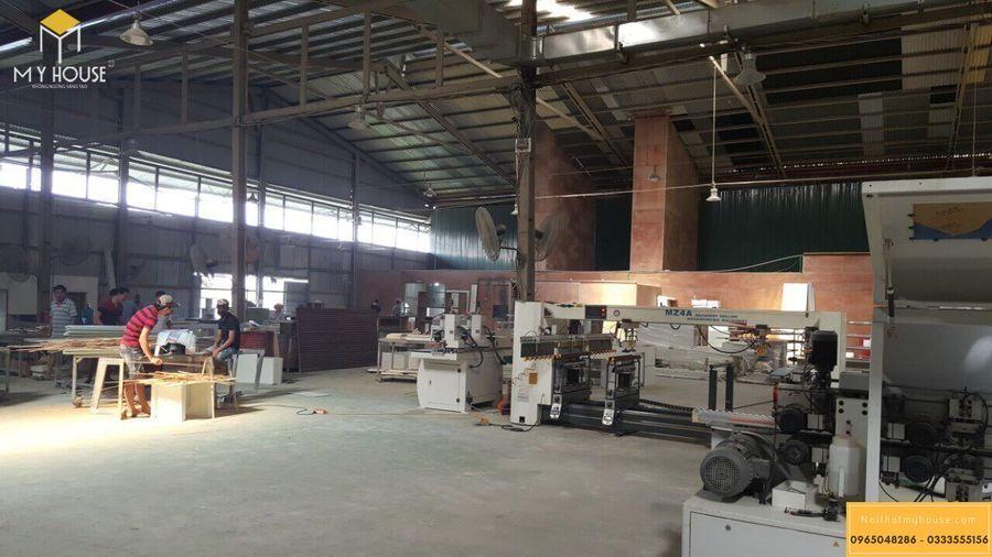 Xưởng sản xuất nội thất gỗ veneer óc chó chuyên nghiệp