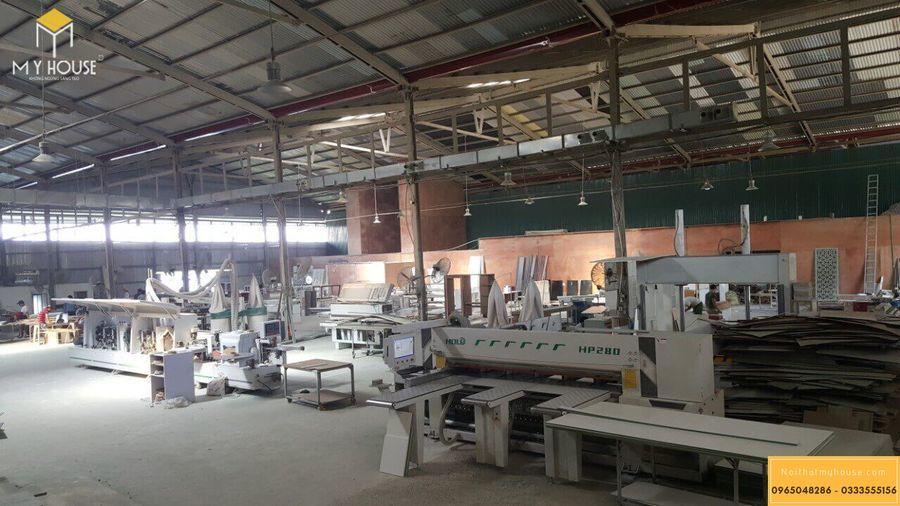 Hình ảnh xưởng sản xuất nội thất gỗ veneer óc chó - Mẫu 5