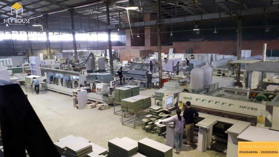 Hình ảnh xưởng sản xuất nội thất gỗ veneer óc chó - Mẫu 7