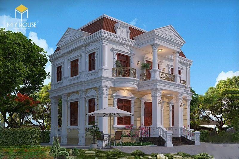 Biệt thự 2 tầng tân cổ điển sang trọng -Mẫu 3