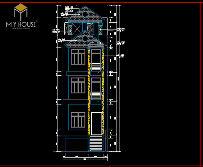 Nhà phố 5x19m-5 tầng