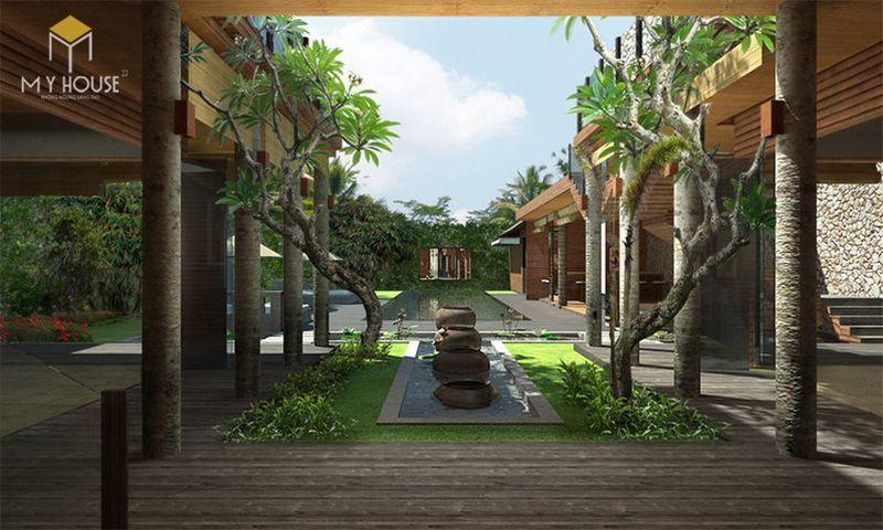 Thiết kế resort hiện đại không gian xanh ấn tượng - View 4