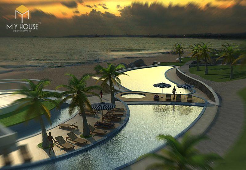Cách bài trí khách sạn nghỉ dưỡng tại biển độc đáo